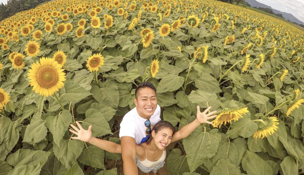 【GoPro カップル旅行 -新潟編-】ひまわり畑やSUPなどインスタスポットで使ってみた♡