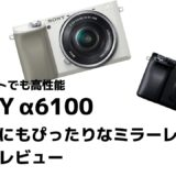 SONY α6100 レビュー