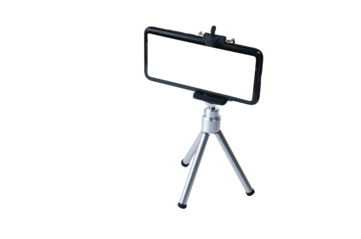 Smartphone on a tripod