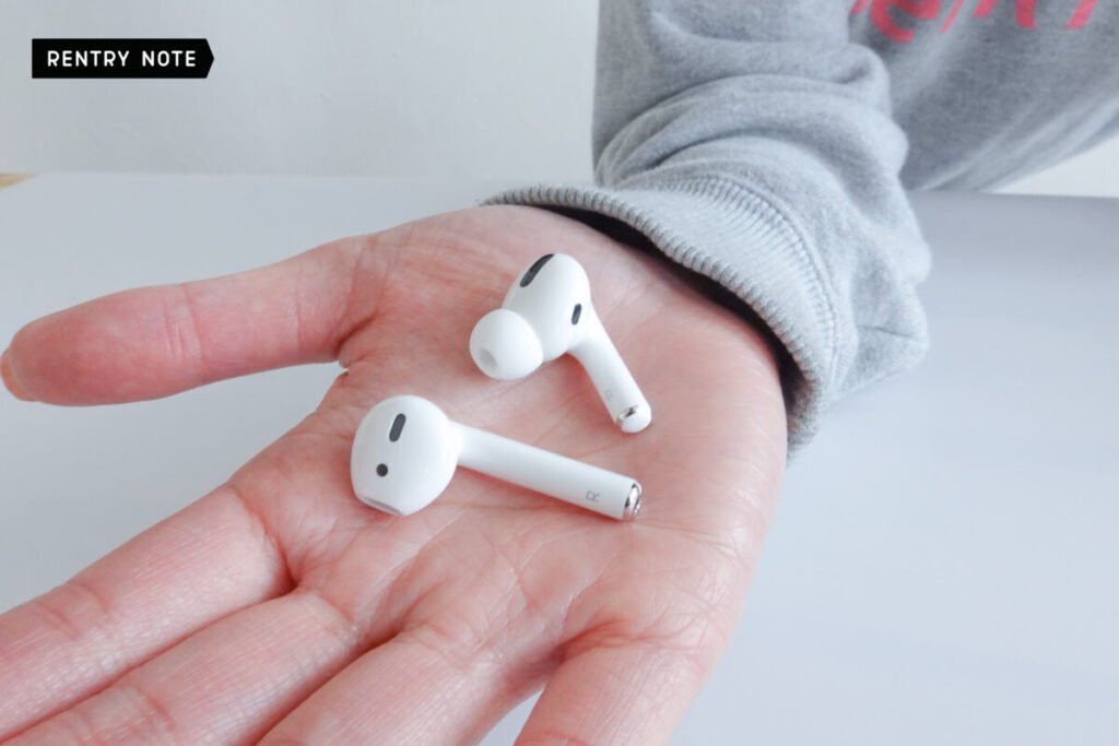 AirPods Pro と AirPods 比較